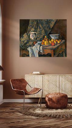 Kunstwerk: 'Paul Cézanne, Stilleven met appels en perziken - 1905' van van Atelier Liesjes