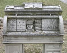 Curious about the symbolism of the desk, and the importance of it to the Harding family. The books have names of various family members buried nearby, and the logs surrounding the desk also have names listed. See more photos here: http://ancstry.me/1CwfZI6 #findagrave #memorial