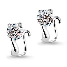 Revoni Sterling Silver Pink Zircon 2 Carat Size (7 mm) Invisible Cut Square CZ Stud Earrings O7TVmu