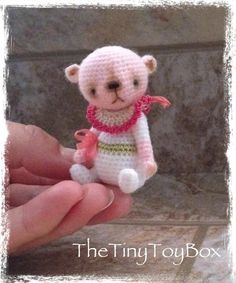 Looking for crocheting project inspiration? Check out Amigurumi Teddy Bear 'Lottie' by member TheTinyToyBox. - via @Craftsy ♡