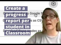 Progress Report, Cool Tech, Google Classroom, Report Cards, Scores, Youtube, Students, Create, Youtubers