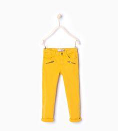 Twill trousers-Leggings & Trousers-Girl (3-14 years)-KIDS | ZARA United States