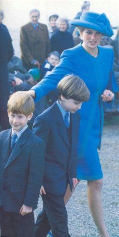 December 25, 1991: Diana, Princess of Wales at Sandringham with the Royal family.