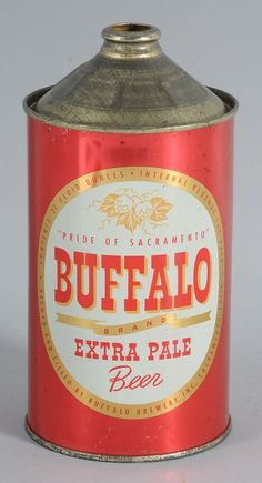 Buffalo Extra Pale Beer Quart Cone Top Can. Beer Can Collection, Old Beer Cans, Beers Of The World, All Beer, Beer Company, Beer Brands, Home Brewing, Craft Beer, Brewery