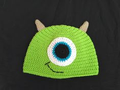 Free crochet pattern - Funky Bugs - crochet adventures and other silliness: Mike Wazowski Hat