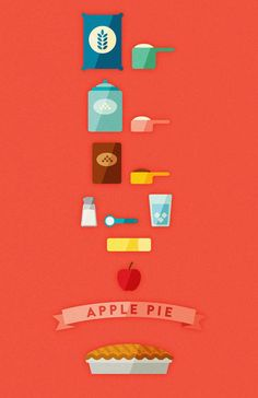 Creative Vector, Apple, Pie, and Illustration image ideas & inspiration on Designspiration Web Design, Flat Design Icons, Icon Design, Design Art, Flat Icons, Flat Illustration, Food Illustrations, Graphic Design Illustration, Wedding Illustration