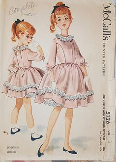 M5126 by Helen Lee, 195(9) Childrens Sewing Patterns, Kids Patterns, Mccalls Patterns, Clothing Patterns, Vintage Girls Dresses, Vintage Dress Patterns, Vintage Outfits, Helen Lee, Little Dresses