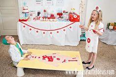 Doctor Nurse themed birthday or graduation party via Kara's Party Ideas www.KarasPartyIdeas.com-16