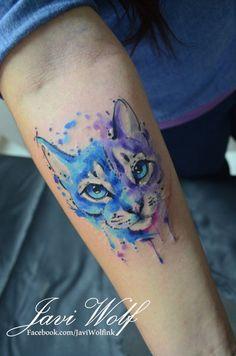 Watercolor friendly cat! :) AGENDA ABIERTA cotizaciones y citas en el DF sólo enwww.javiwolf.com/quiero-una-cita (tiempo de respuesta 2 a 3 semanitas)