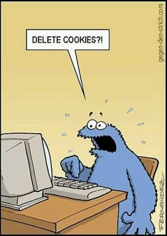 TECH HUMOR: Cookie monster deleting cookies? @Business Continuity Technologies