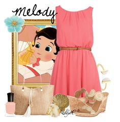 """""""Melody - Disney's The Little Mermaid 2"""" by rubytyra ❤ liked on Polyvore featuring BCBGeneration, Disney, Jack Rogers, Currey & Company, Carolee, INC International Concepts, Indulgems and Deborah Lippmann"""