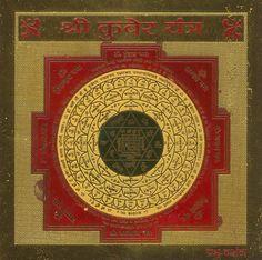 Sri Kubera Yantra Chakra Symbols, Sacred Symbols, Tantra Art, Vajrayana Buddhism, Meditation, Magic Squares, Tibetan Art, Hindu Deities, Hindu Art