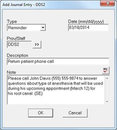 Dentrix Tip Tuesdays: Using the Office Journal for Staff Reminders