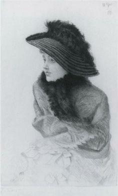 Portrait of M.N. (Portrait of Mrs. Newton) - James Tissot