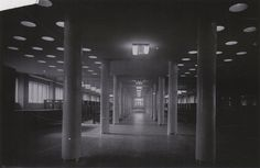 Foyer to the club section of Melnikov's workers club, 1930s | Flickr: Intercambio de fotos