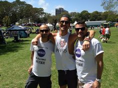 Adam Williams with Community Brave founder Rami Mandow and PR manager Steven Murphy