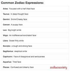 Zodiac signs: