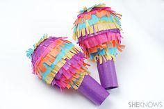 Pinata-inspired maracas craft for Cinco de Mayo