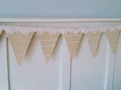 bunting made from books! This might be my favorite (minus the lace) @emily // the object enthusiast