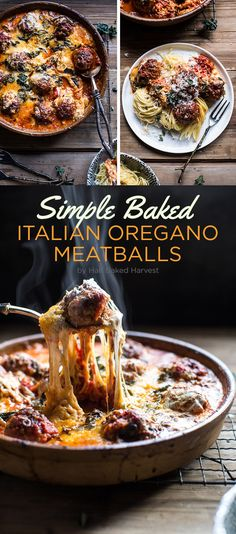Simple Baked Italian Oregano Meatballs | Here's What You Should Eat For Dinner This Week
