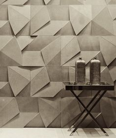 Scaleno concrete wall coating by Brazilian design company Castelatto. via bimbon