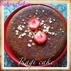 Eggless Ragi Cake recipe without oven