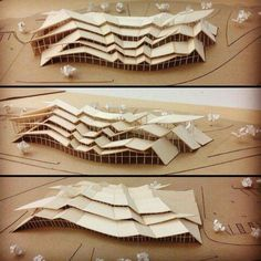Architectural model made using wood to effectively represent this space 3 dimensionally