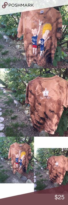 "Headbang Thick As Blood ""B&Bh"" custom bleach dyed Thick as blood band short sleeve tee. Redesigned and custom bleach dye job. Shirts Tees - Short Sleeve"