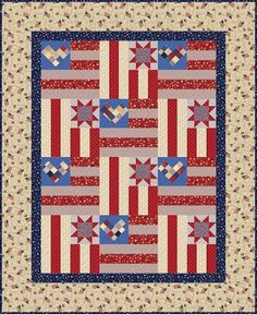 Stars and Stripes by Heidi Pridemore for P Textiles