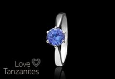 Solitaire tanzanite ring