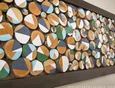 Custom Wall Art With Wood Slices