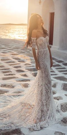 Wedding Dress Tea Length, 70s Wedding Dress, Western Wedding Dresses, Dream Wedding Dresses, Casual Wedding Dresses, Lace Wedding Gowns, Modest Wedding, Formal Wedding, Party Wedding