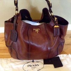PRADA Cervo Antik Deerskin Jumbo Cacao Gradient Accent Satchel Tote Shoulder Bag | Clothing, Shoes & Accessories, Women's Handbags & Bags, Handbags & Purses | eBay!