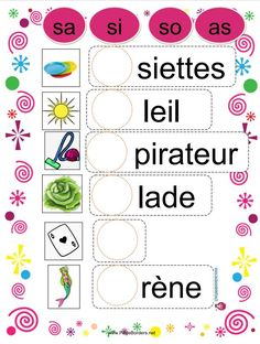French Language Lessons, French Lessons, French Education, Kids Education, Toddler Learning, Teaching Kids, Grade 1 Reading, Learning The Alphabet, Readers Workshop
