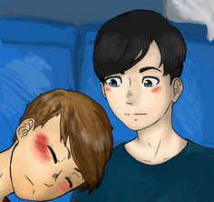 Tumblr Phan Art   Trip on the train from Glasgow.<<< Cause of Death : this GIF