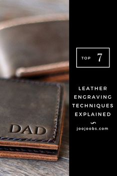 The Top 7 Leather Engraving Techniques Explained - JooJoobs Christmas Gifts For Boyfriend, Boyfriend Gifts, Homemade Gifts For Men, Leather Engraving, Best Stocking Stuffers, Distressed Leather, Dremel, Wood Burning, Project Ideas