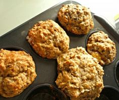 banana spent grain muffins