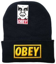 8db62f40c28 Free shipping fashion knitting OBEY Beanie hat wool winter knitted caps   hats for man and women hip hop warm Skullies Beanies