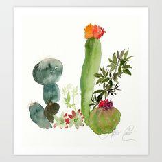 cactus Art Print by Alaia Cabo Design - $16.64