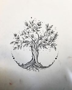 "Gefällt 55 Mal, 3 Kommentare - Elisa Treg ॐ Tattoo (@elisatreg) auf Instagram: ""#borderline #me #treeoflife #treeoflifetattoo #sketch #sketchtattoo #ink #tattoos #tattoogirl…"""