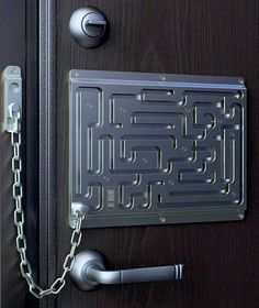 Maze Door Chain Lock- You may manage to keep someone out, but you could also keep yourself in!