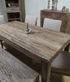 Aden Rustic Rectangular Dining Table Western Dining Tables - Free ...