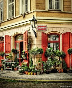 At the Municipal Courtyard in Old Town, Prague, Czechia #houses #Prague #Czechia