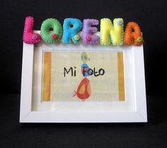 Marco de fotos con nombre en fieltro: Lorena by ChikiPol