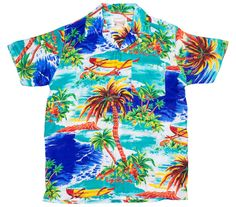 Beached-Sailboat-Print-Hawaiian-Shirt-BLUE
