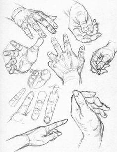 docencia: dibujo de manos