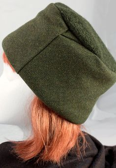 Brown/Green Tweed Slouch Hat - Turbans, Cloche Hat, Hat Making, Dressmaking, Hats For Women, Tweed, Knit Crochet, Sew Dress, Winter Hats