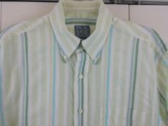 Jos A Banks Stays Cool Striped Camp Shirt Button Down Casual Shirt Stay Cool in Clothing, Shoes & Accessories | eBay