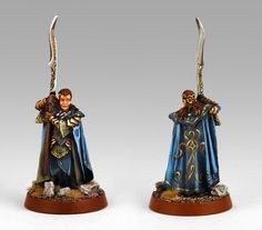 """Gil-galad, Games Workshop's """"Lord of the Rings"""" line. Gil-galad won Best In Show at a local Games Workshop Citadel competition Warhammer Figures, Warhammer Models, Warhammer 40k Miniatures, Mini Paintings, Cool Paintings, Gil Galad, Lotr Elves, High Elf, Game Workshop"""