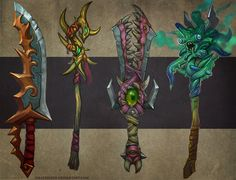 Weapons concept 02 by FirstKeeper.deviantart.com on @deviantART